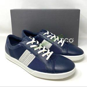 ECCO Wild Dove Shadow Leather Blue Men's Sneakers